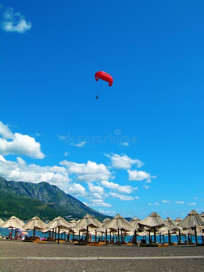 strandbecici montenegro arkivbild