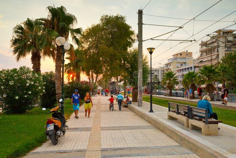 Strandboulevard in Athene royalty-vrije stock foto's