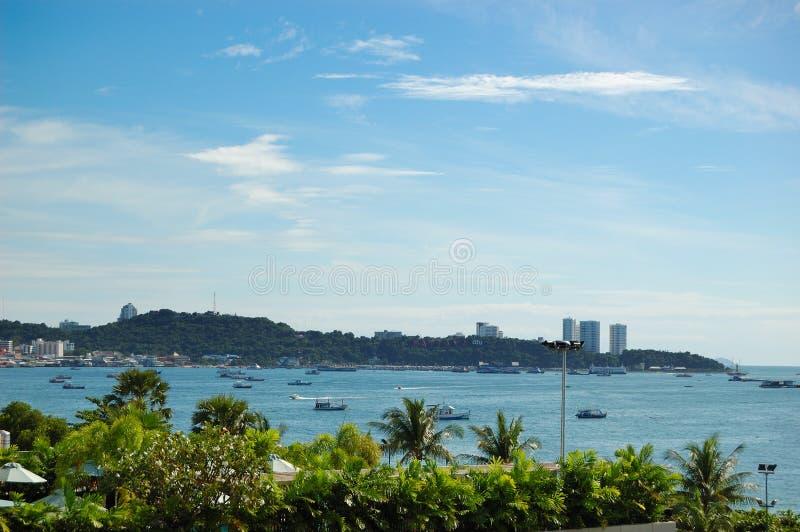 Strandboulevard van de Stad Pattaya stock fotografie