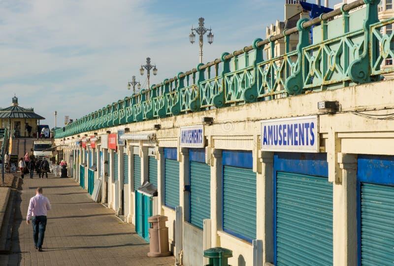 Strandboulevardpromenade in Brighton, Engeland royalty-vrije stock foto