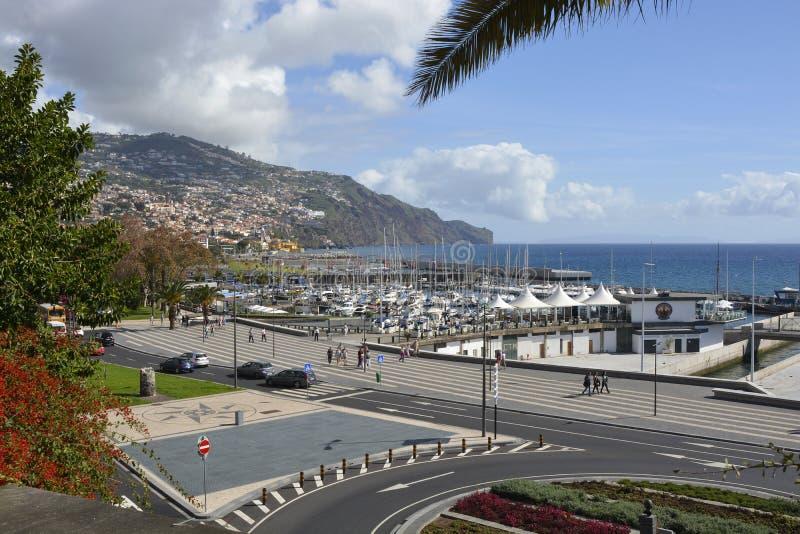 Strandboulevardpromenade in Funchal, Madera, Portugal royalty-vrije stock foto