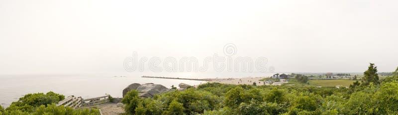 strandconnecticut panorama arkivbilder