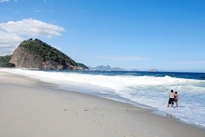 strandcopacabana royaltyfria foton