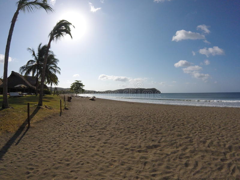 Stranddag i Los Santos, Panamà ¡, arkivfoton