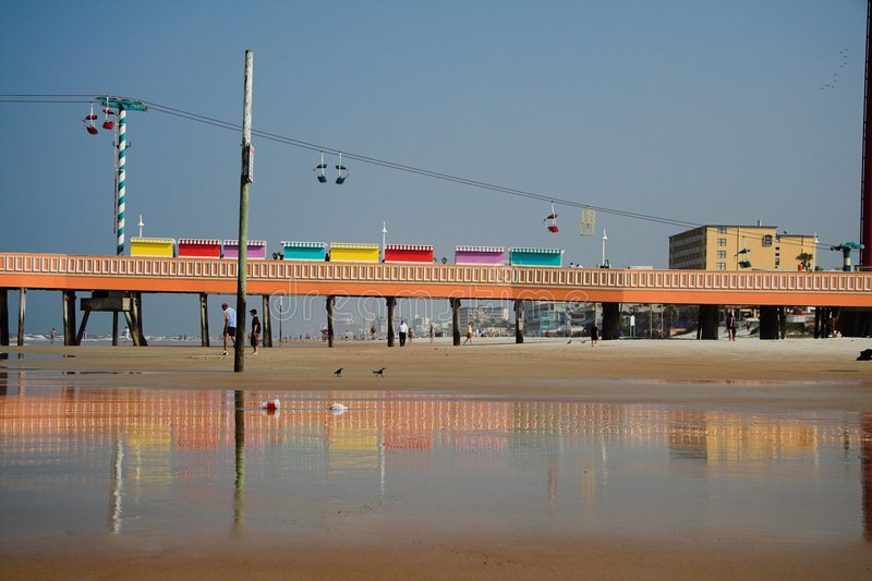 Download Stranddaytonapir fotografering för bildbyråer. Bild av semester - 977659
