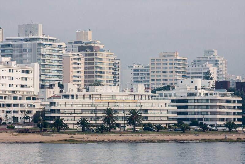 stranddel este punta uruguay royaltyfria foton