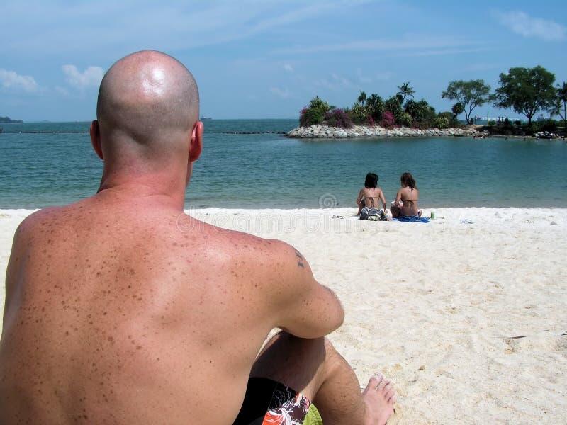 Download Stranddudesikt arkivfoto. Bild av landskap, svett, sceniskt - 977508