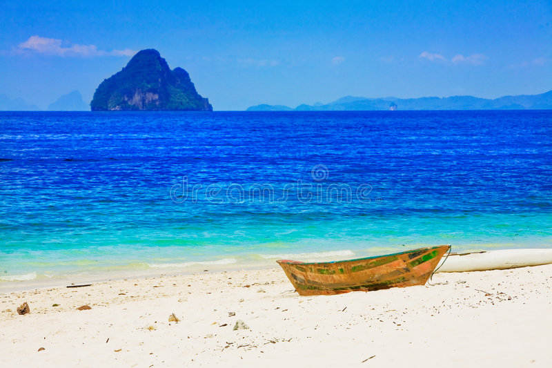 Stranded On Island Stock Images