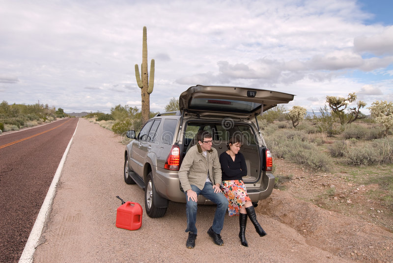 Stranded and out of gas stock photography