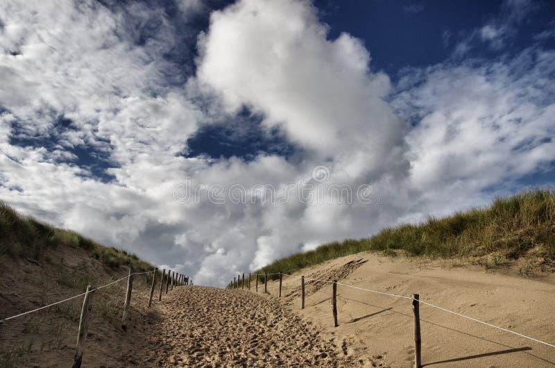 Strandeingang stockfoto