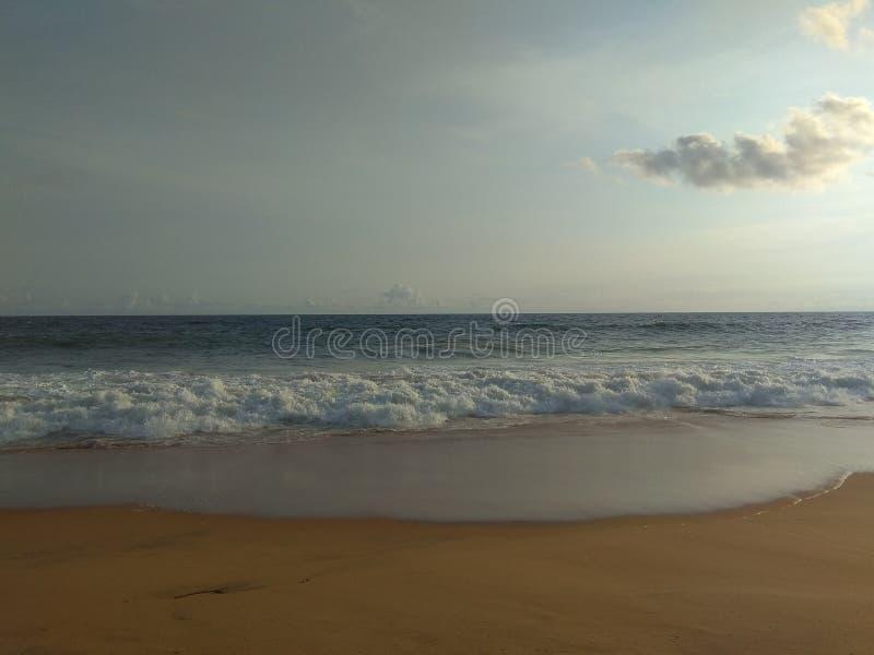 Stranden één van Kerala van schoonst in India stock afbeeldingen