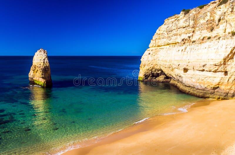 stranden in Algarve stock fotografie