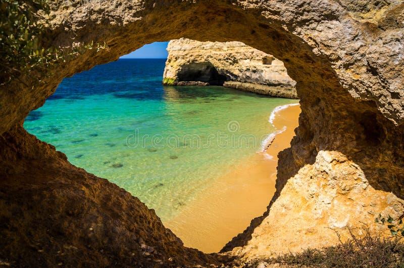 stranden in Algarve stock foto