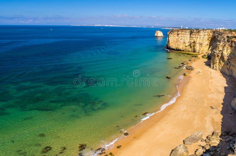stranden in Algarve royalty-vrije stock fotografie