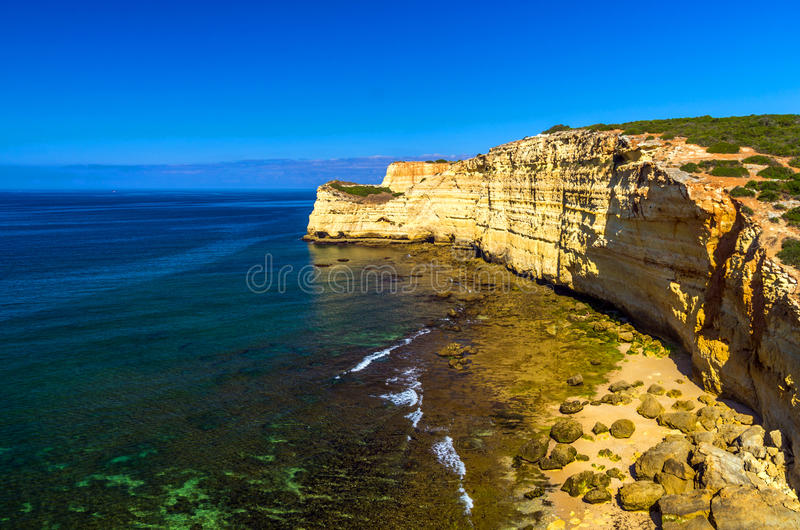 stranden in Algarve stock foto's