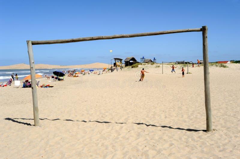 Stranden av Barra de Valizas i Uruguay arkivfoto