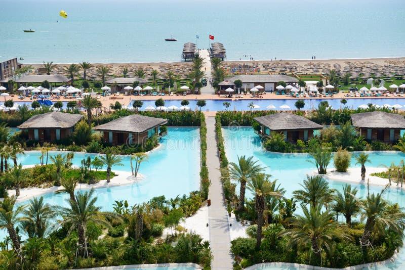 Stranden av Maxx Royal Belek det lyxiga hotellet royaltyfria foton