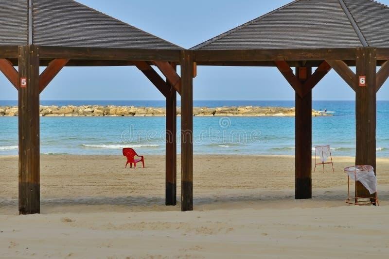 Stranden av medelhavet, början av haven royaltyfria foton