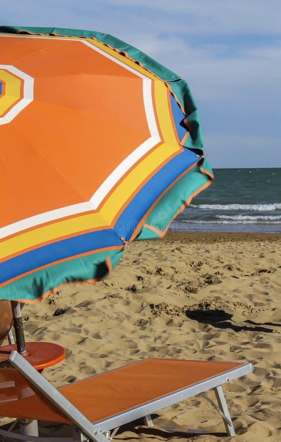 stranden chairs däcket royaltyfri fotografi