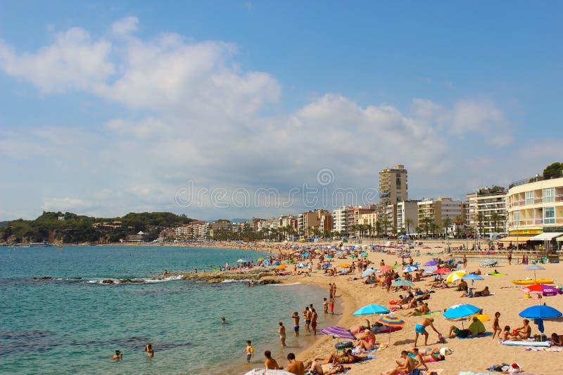 stranden de lloret fördärvar arkivfoton