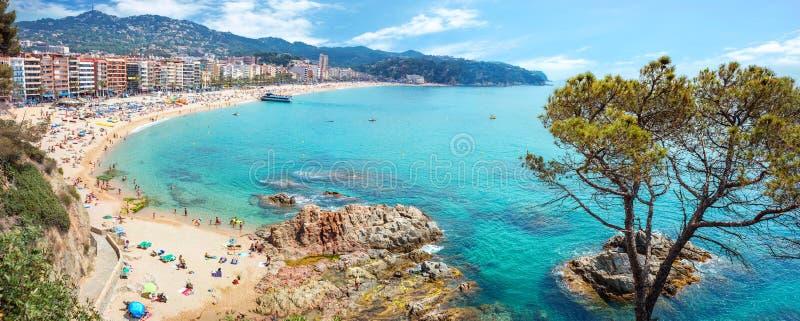 stranden de lloret fördärvar Costa Brava, Catalonia, Spanien royaltyfria foton