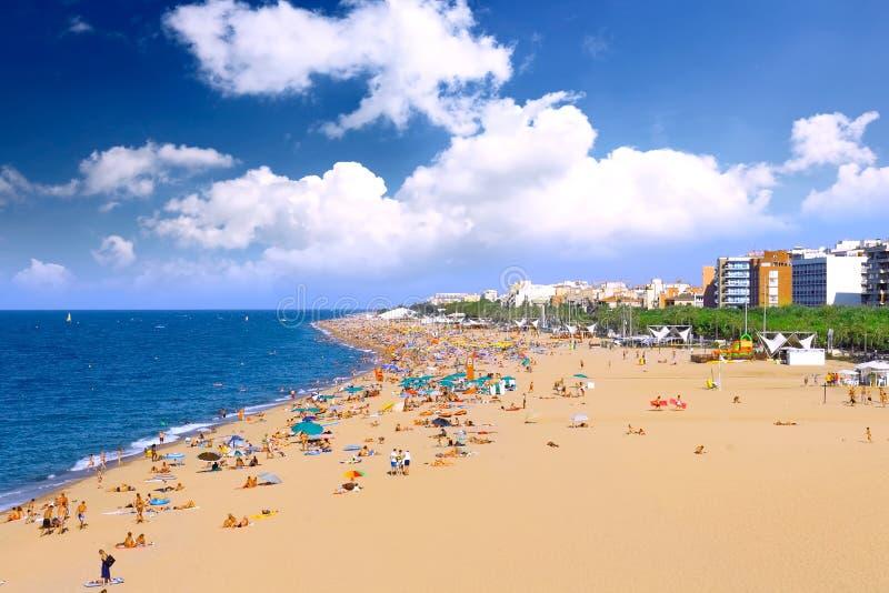 Stranden, kust in Spanje. stock fotografie