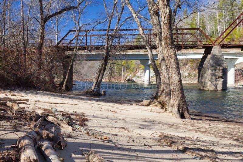 Stranden på bränt maler bron royaltyfria foton