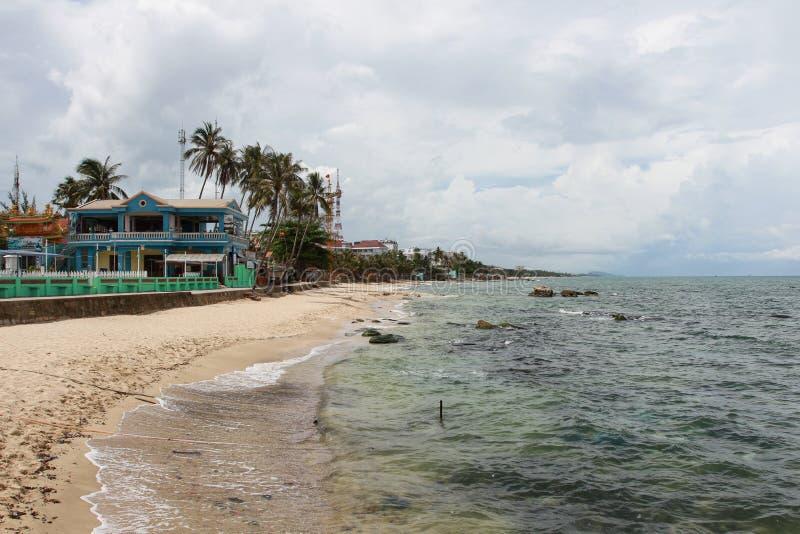 Stranden på den Phu Quoc ön, Vietnam royaltyfria foton