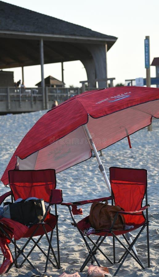 Stranden på Tybee Island royaltyfri foto