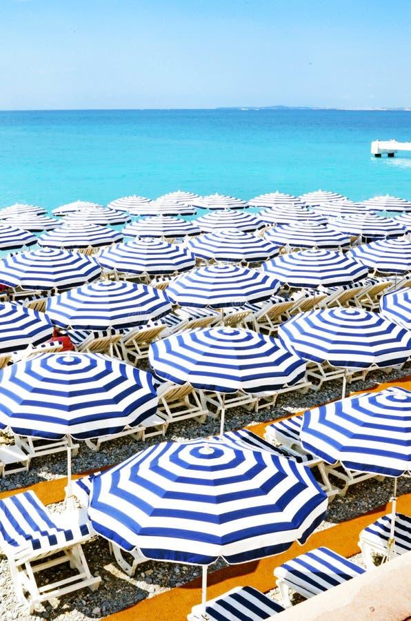 Stranden van Nice stock foto