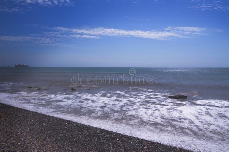 Stranden van Puzol Valencia stock fotografie