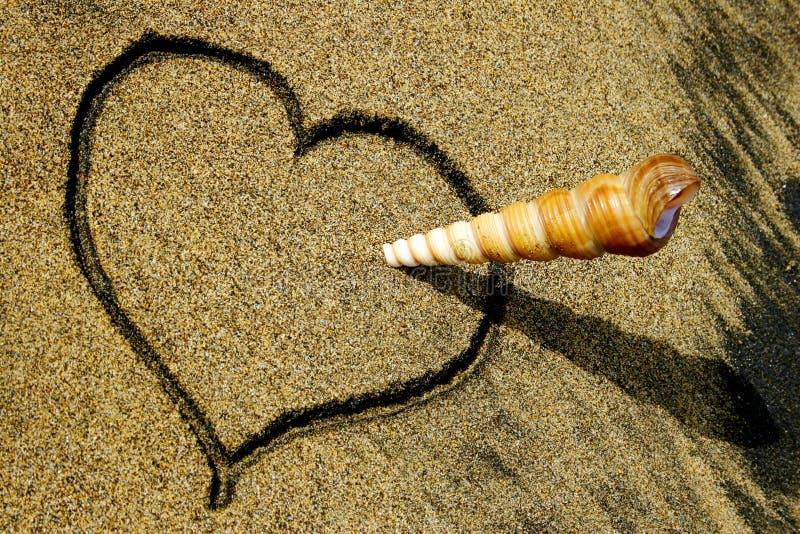 Download Strandförälskelse fotografering för bildbyråer. Bild av sand - 279163
