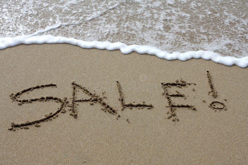 strandförsäljning arkivfoto