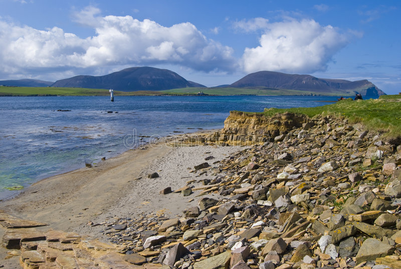 strandfastland orkney royaltyfria foton