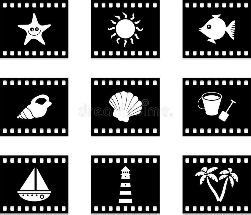 strandfilm royaltyfri illustrationer
