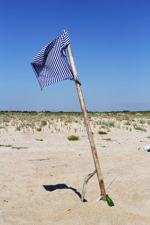 Strandflagga arkivfoto