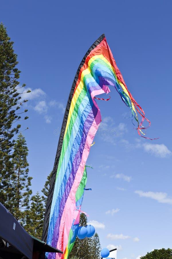 strandflaggor royaltyfria bilder