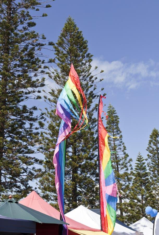 strandflaggor arkivfoto