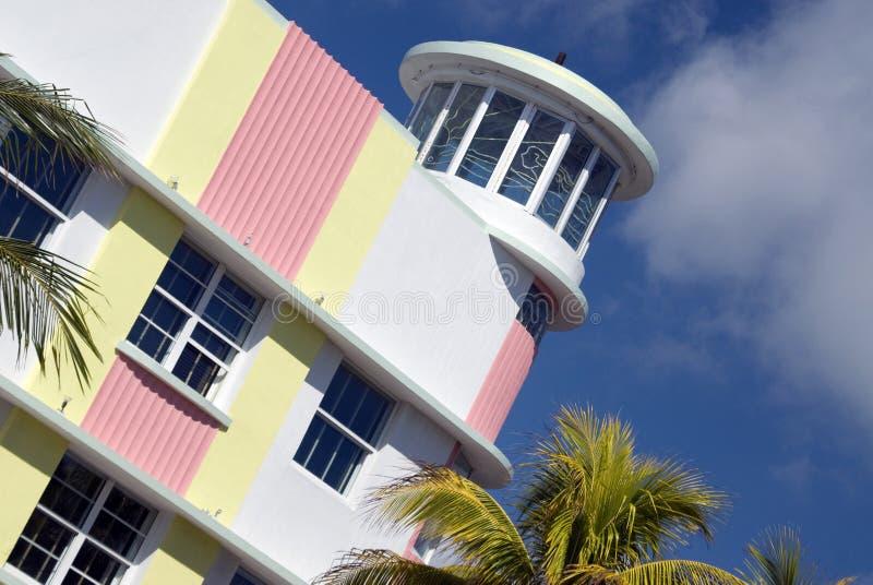 strandflorida hotell södra miami arkivfoto
