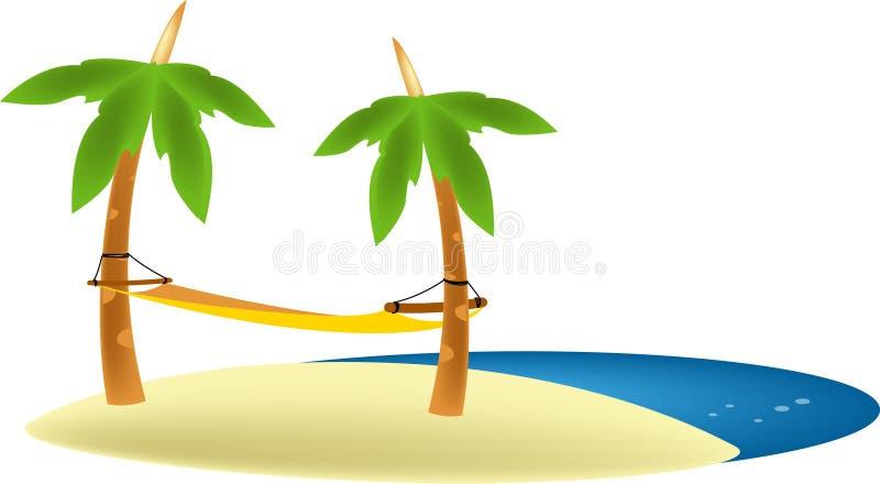 strandhängmatta vektor illustrationer