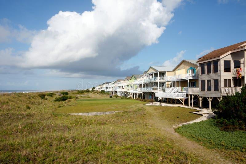 Strandhäuser lizenzfreie stockfotos