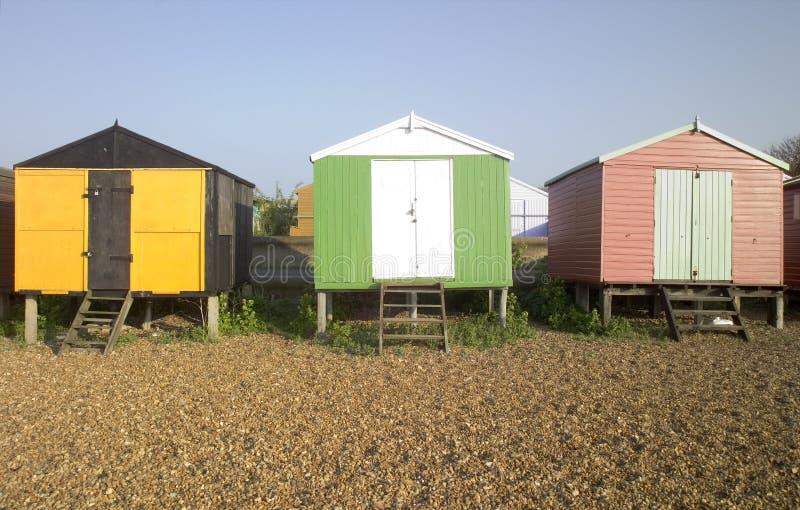 Strandhütten whitstable Kent Großbritannien England stockbilder