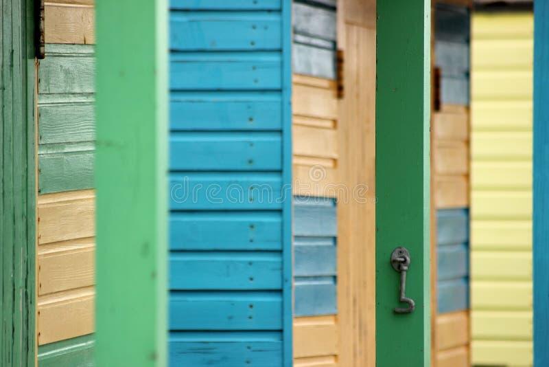 Strandhüttenfarben stockbild