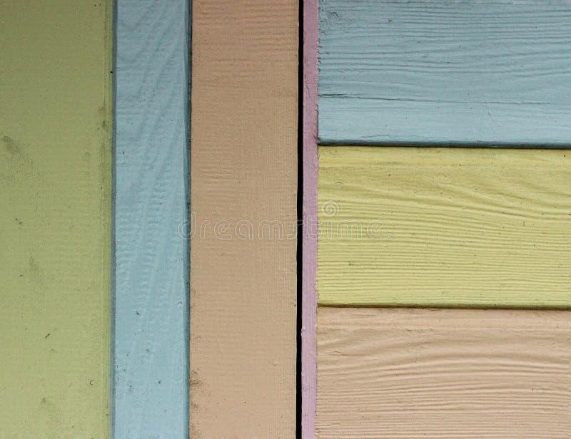 Strandhüttenfarben stockfotos
