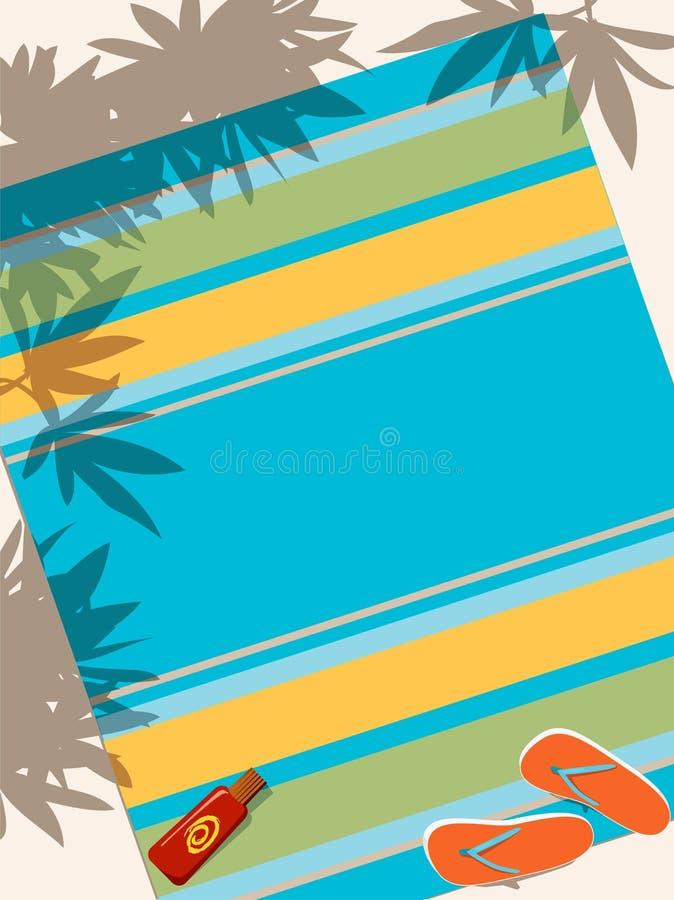 Strandhandduk royaltyfri illustrationer