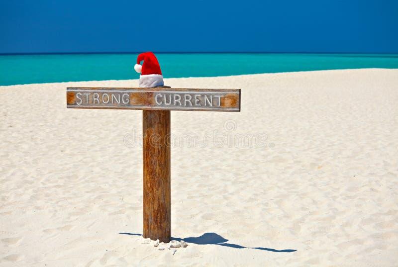 strandhatt santa fotografering för bildbyråer