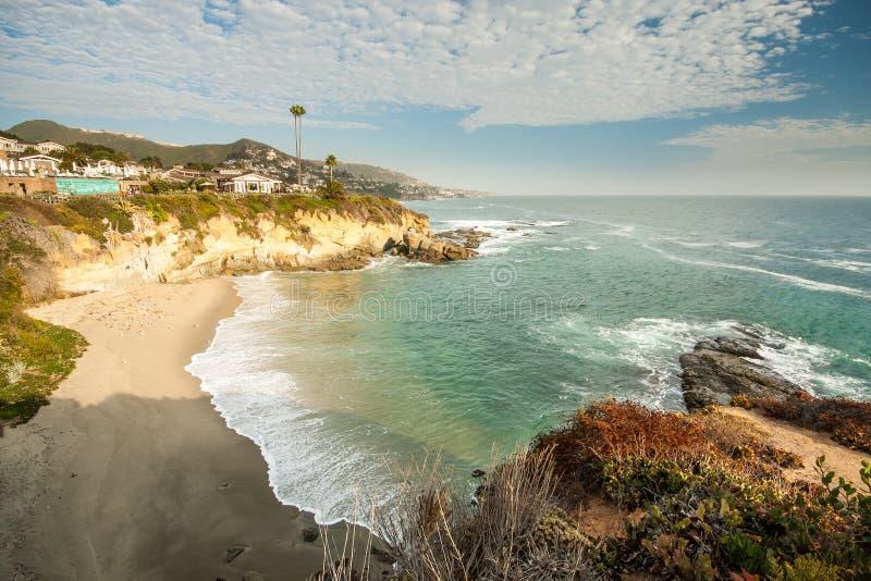 Strandhaus am Laguna Beach, Kalifornien stockfotos