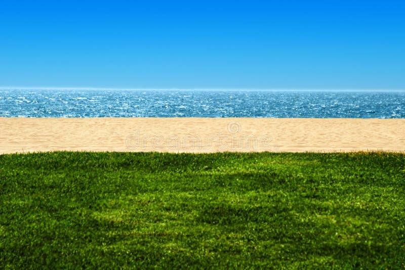 strandhavsikt royaltyfri fotografi