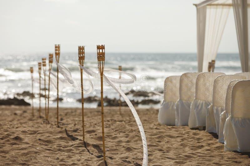 Strandhochzeitszeremonie stockbild