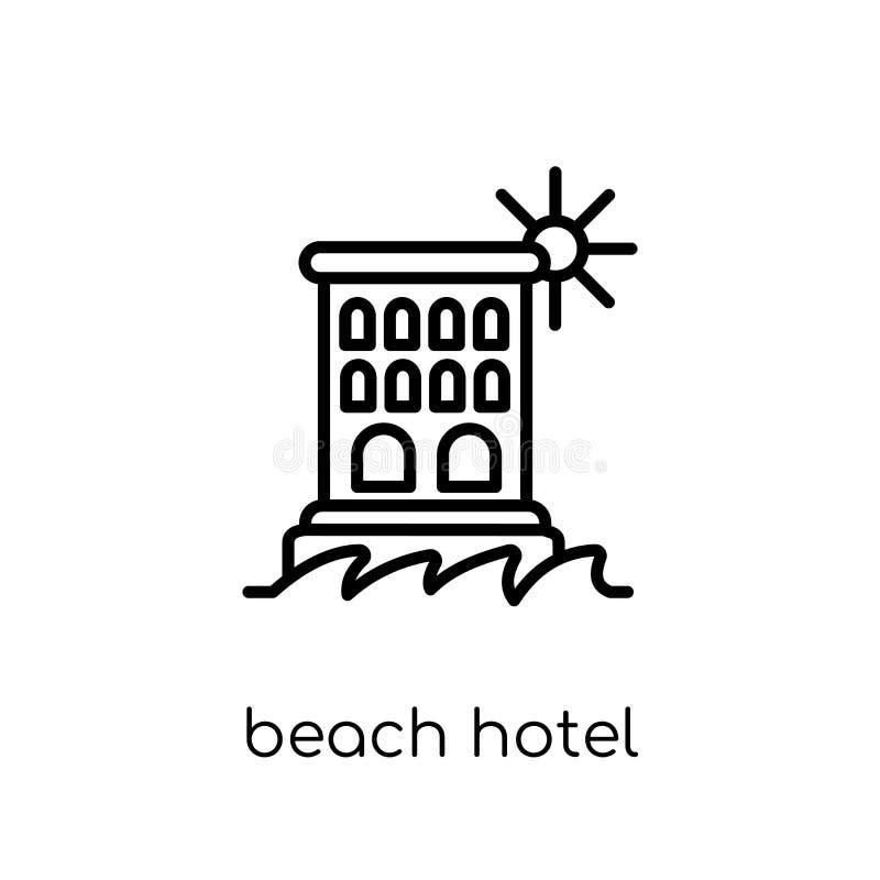 Strandhotellsymbol från hotellsamling vektor illustrationer